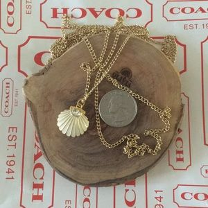 COACH seashell pendant necklace